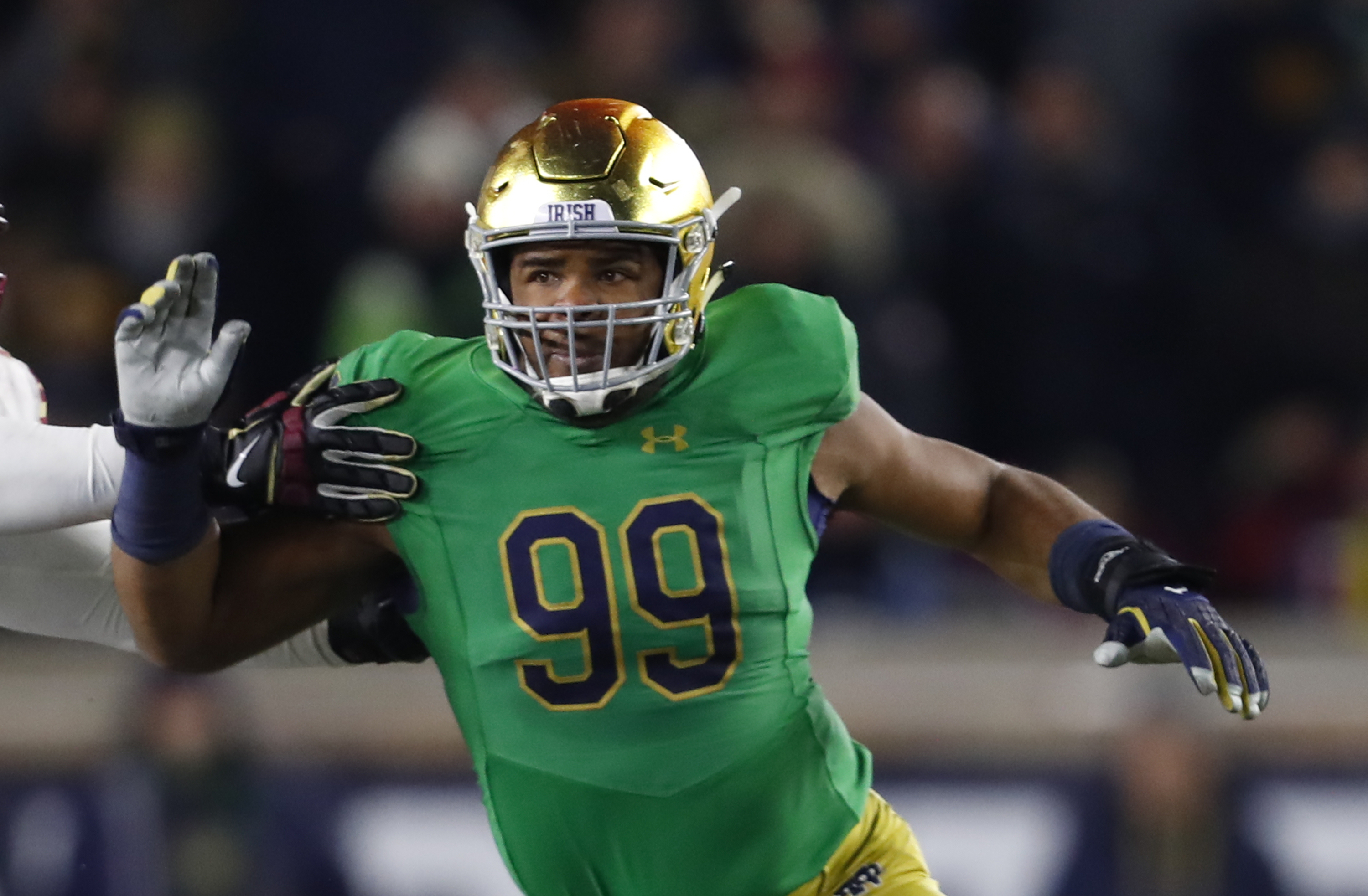 Notre Dame football announces green uniforms for USC game