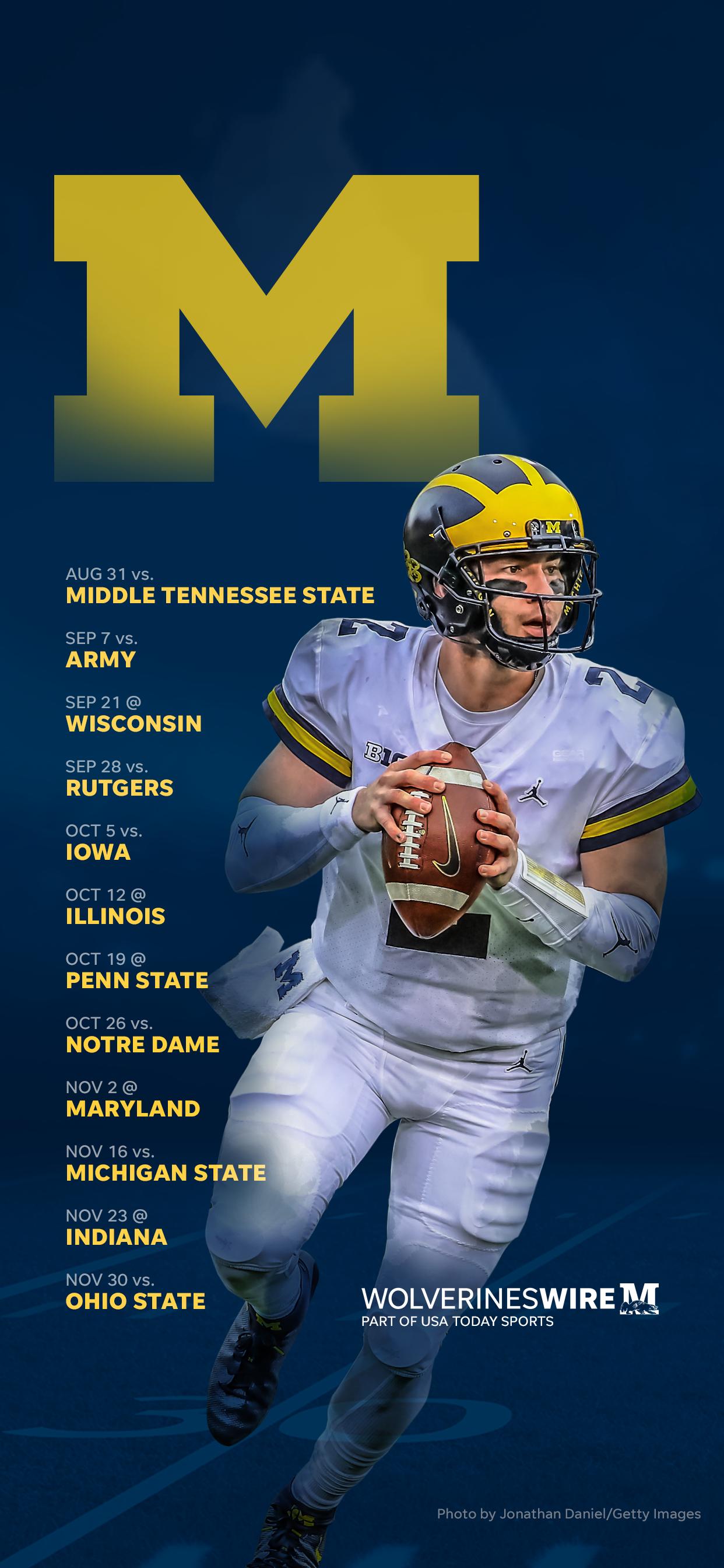 2019 Michigan Wolverines Football Schedule Downloadable Wallpaper