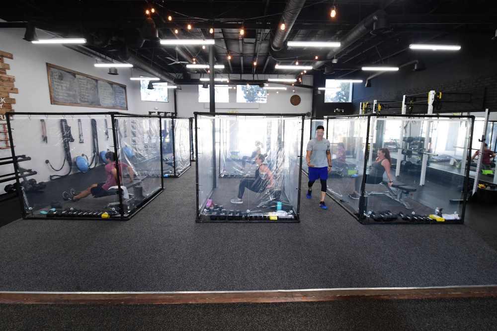 Burbujas de entrenamiento, la nueva tendencia en los gimnasios en la 'nueva normalidad' | ParaGanar