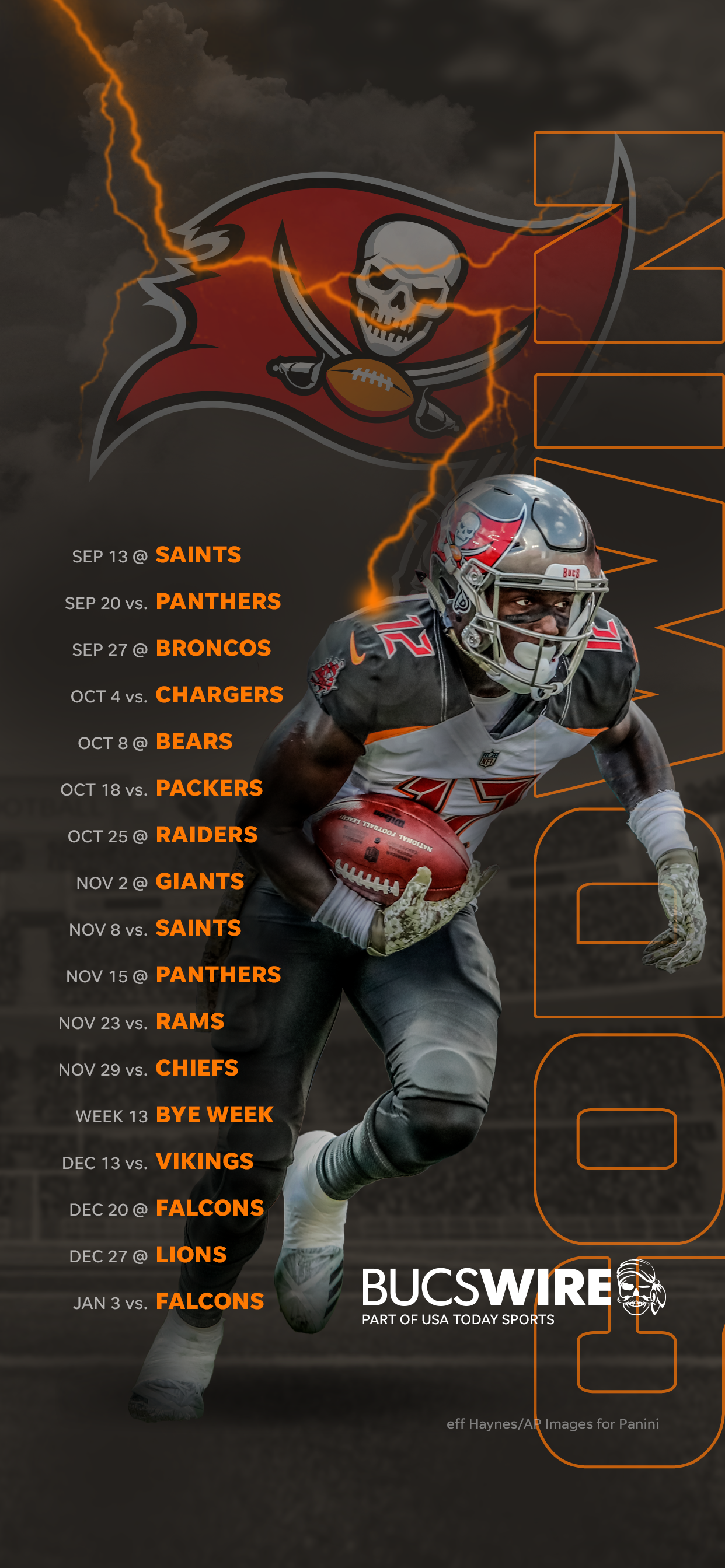 2020 Tampa Bay Buccaneers Schedule