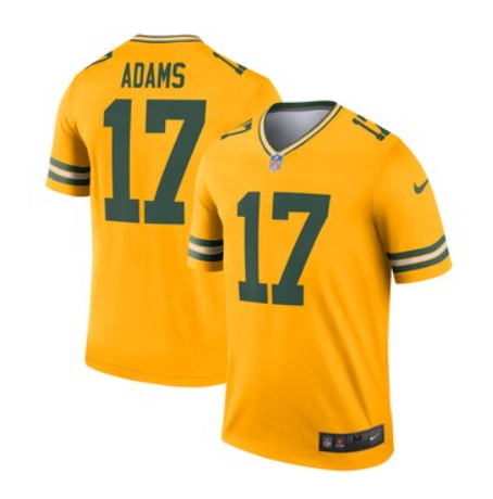 NFL Shop selling 'inverted' Green Bay Packers jersey