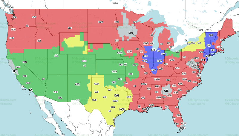 Week 6 Nfl Tv Maps And Schedule