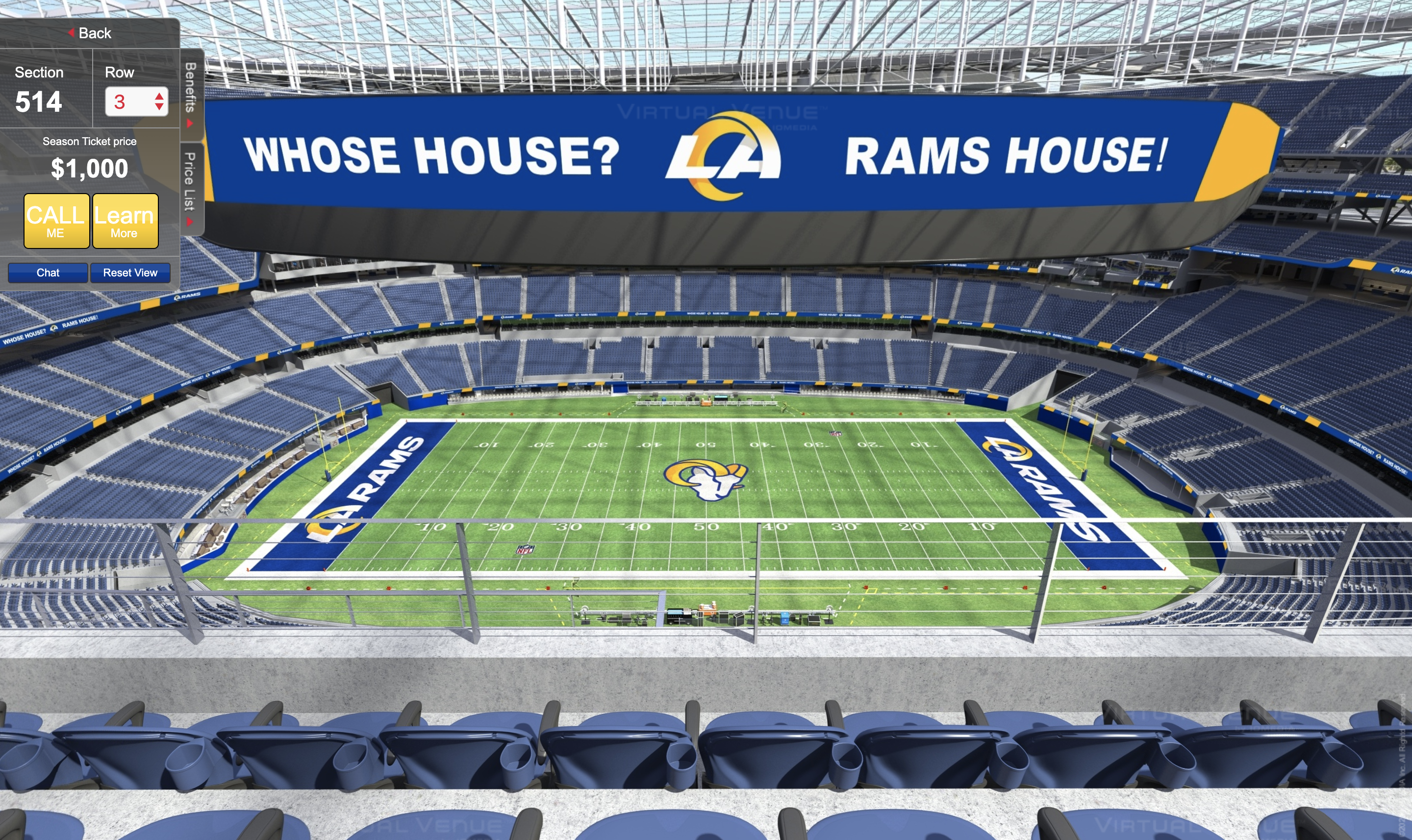 Rams Put Ram Head Logo At Midfield Of Sofi Stadium Virtual Tour