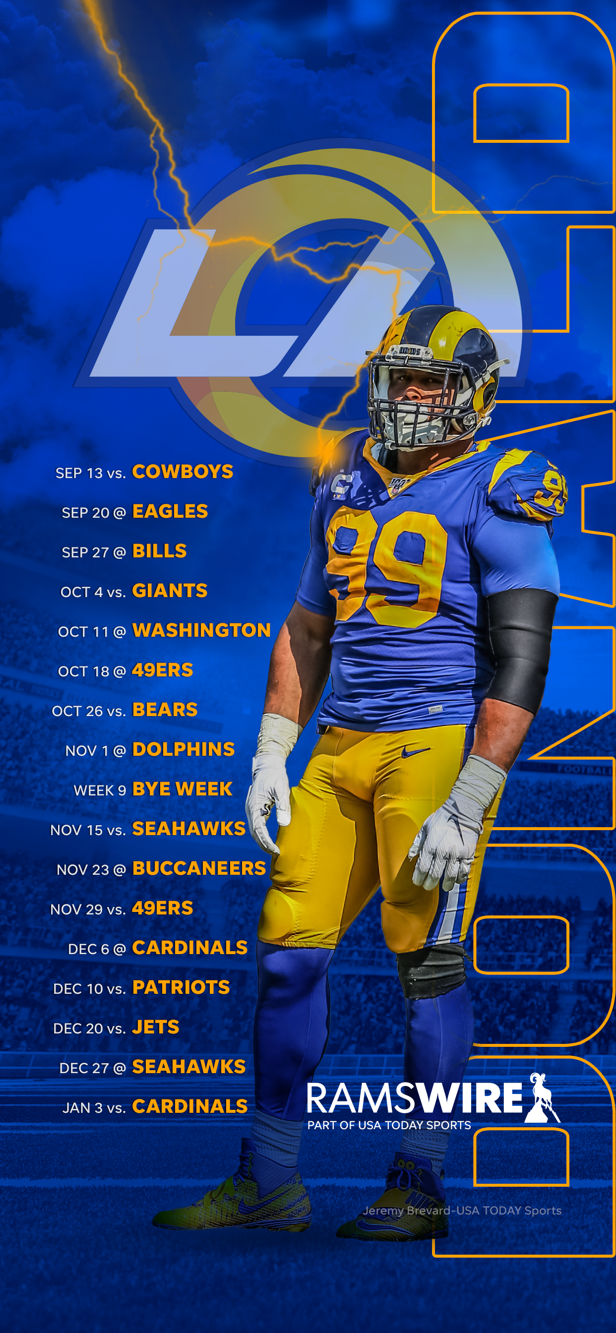 2020 los angeles rams schedule 2020 los angeles rams schedule