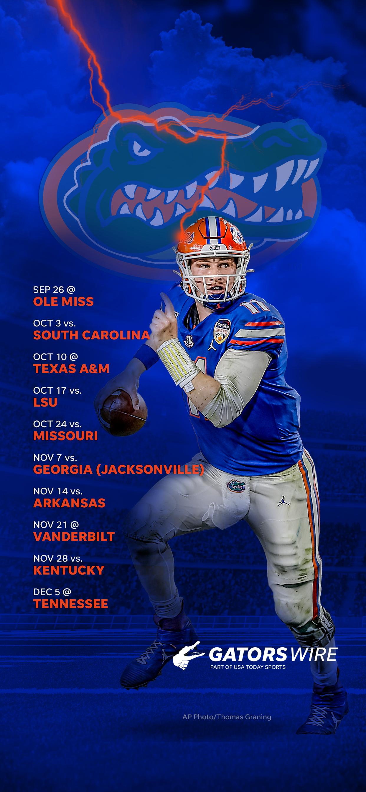 2020 Florida Gators Football Schedule Downloadable Wallpaper