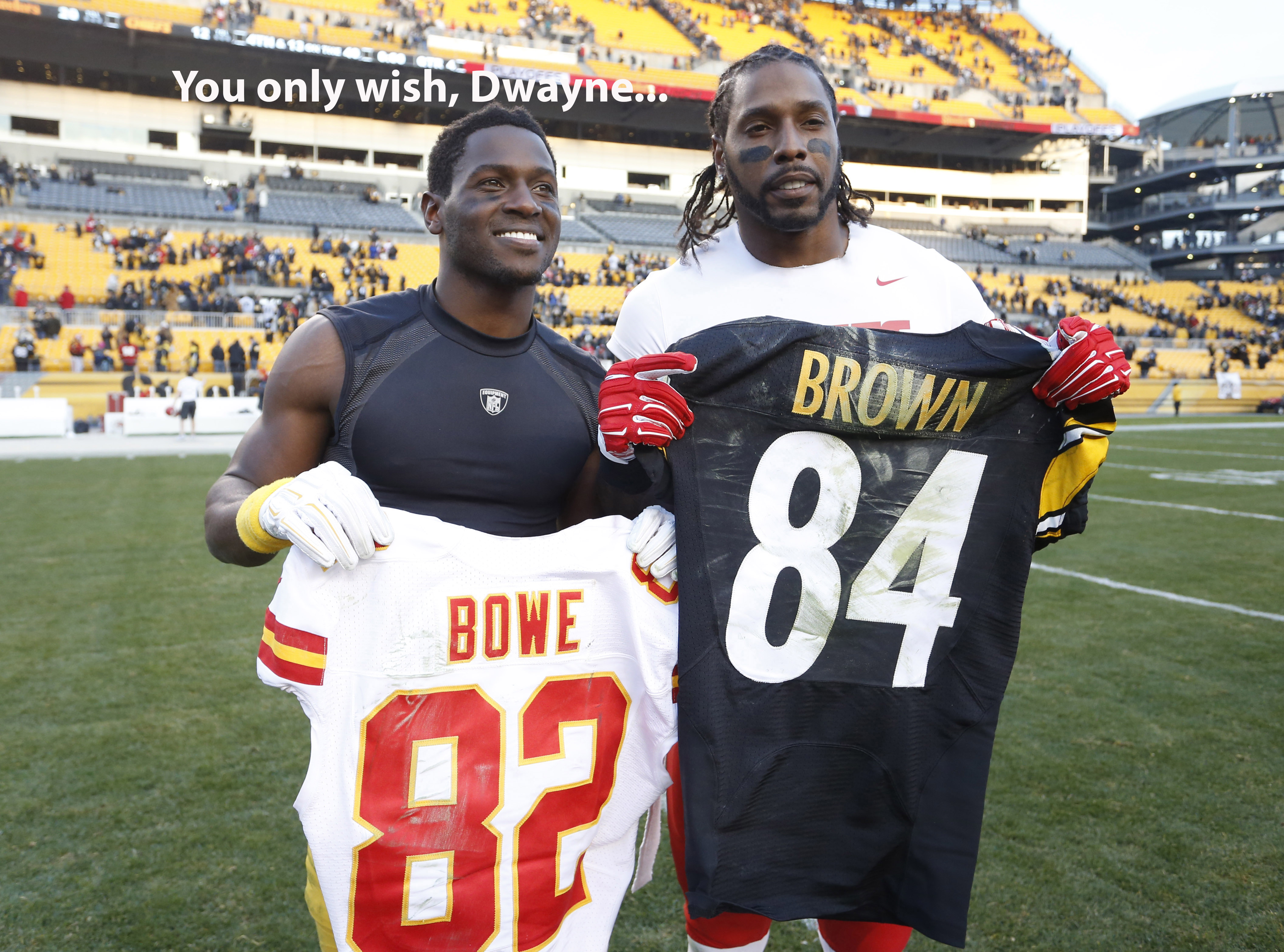 Dwayne Bowe got the better end of his jersey trade with Antonio Brown