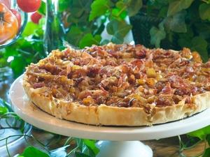 Carmelized Onion-Bacon Tart