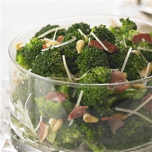 Broccoli with Bacon and Pine Nuts