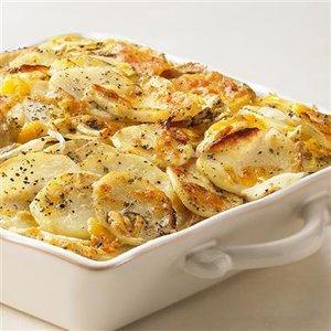 Sage and Cheddar Potato Gratin