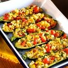 Mediterranean Stuffed Zucchini