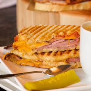 Honey Ham and Cheddar Panini