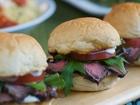 Mini Steak Sandwiches with Horseradish and Tomato