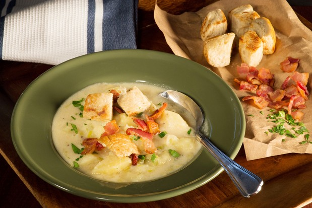 Potato Soup with Cheese and Irish Ale