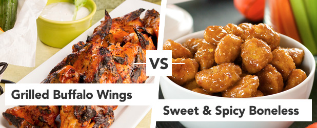 Round 2 Grilled Buffalo Wings vs Sweet and Spicy Boneless Wings