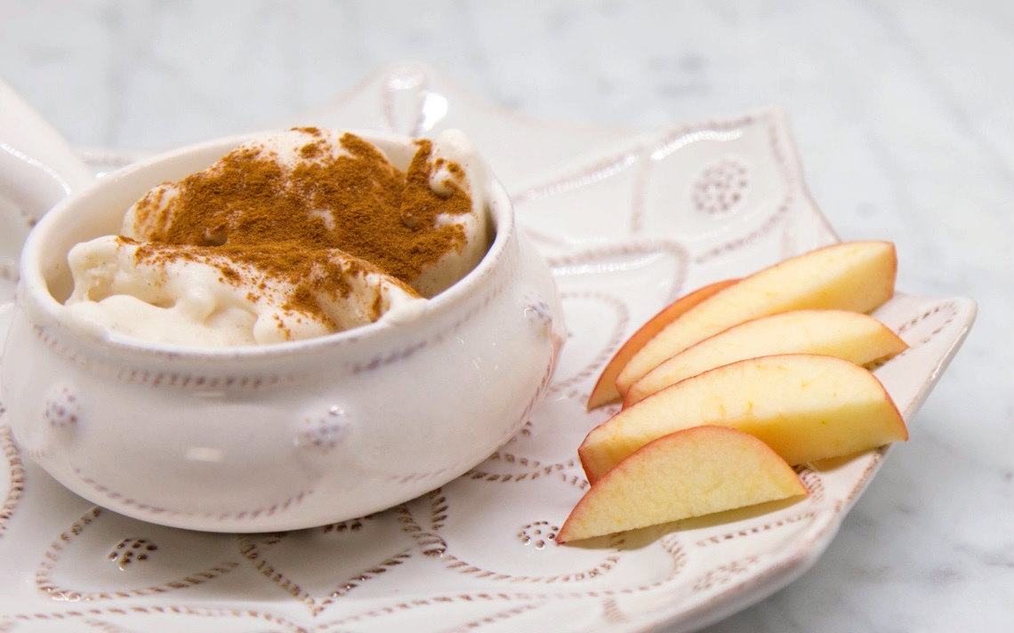 From Ashley Pettit, this recipe will spice up your dessert offerings with a homemade cinnamon toast ice cream that is safe for those who are lactose intolerant by substituting coconut milk.
