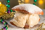 Imagine warm Café du Monde-style beignets topped with a mountain of delicate powdered sugar and rich French roast coffee, right in your own home. Now imagine those wonderful flavors paired together in a delicious ice cream sandwich!