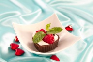 Chocolate Valentine Cups with Crème Fraiche are just the right touch for an elegant dessert at home.