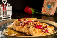 This floral-inspired sauteed chicken is made with garlic, almonds, honey and real crushed rose petals which release an aroma and natural oils to create a beautiful and deliciously unique dish.