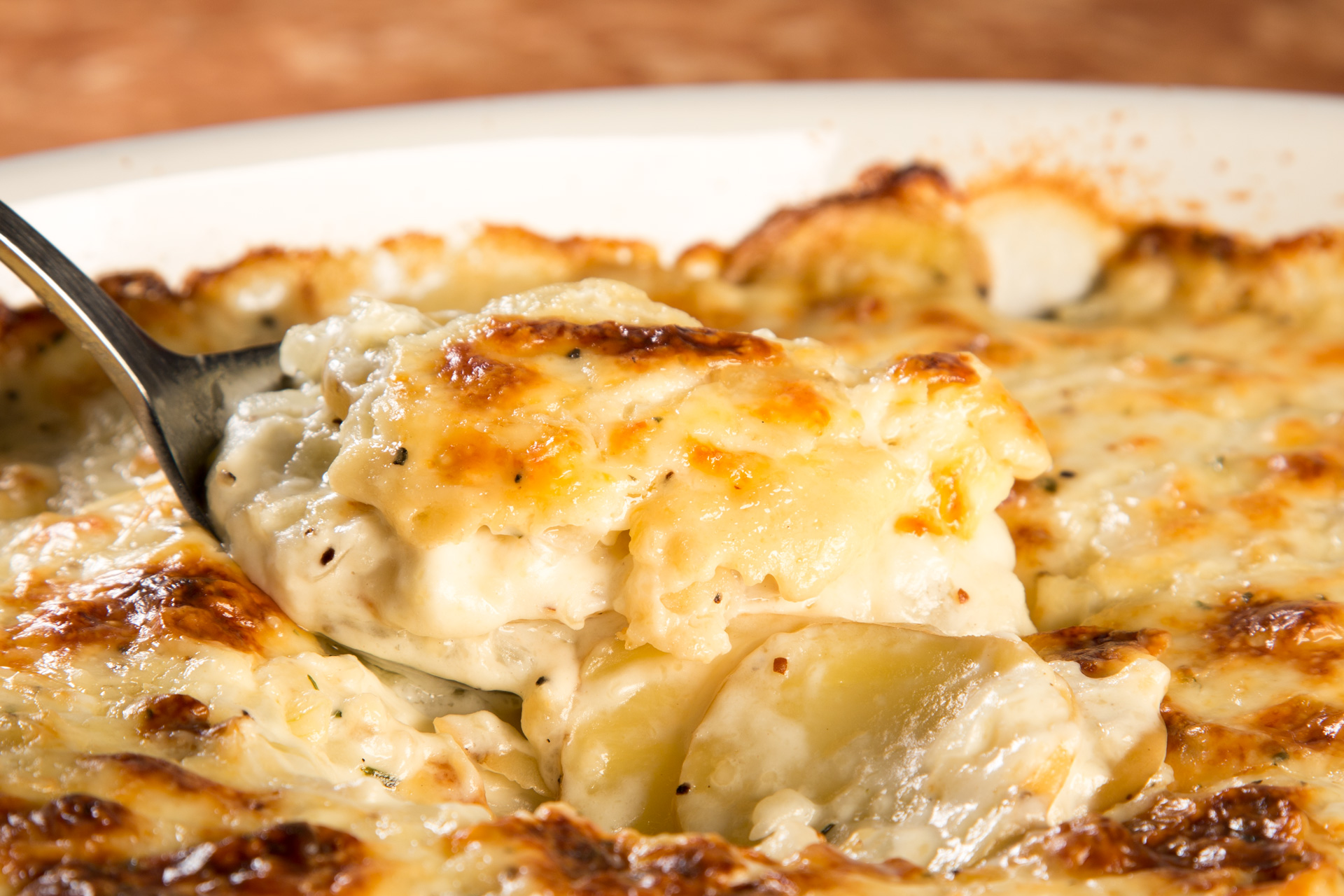 Classic Scalloped Potatoes//Photo by Lance Mellenbruch