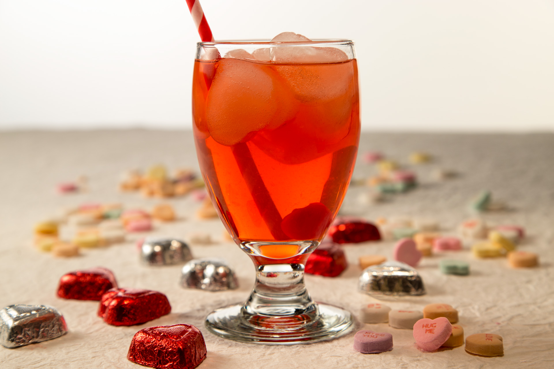 Here's a fun, adult take on a Shirley Temple! You'll enjoy this as a way to bring your Valentine's Day brunch to a delicious conclusion.