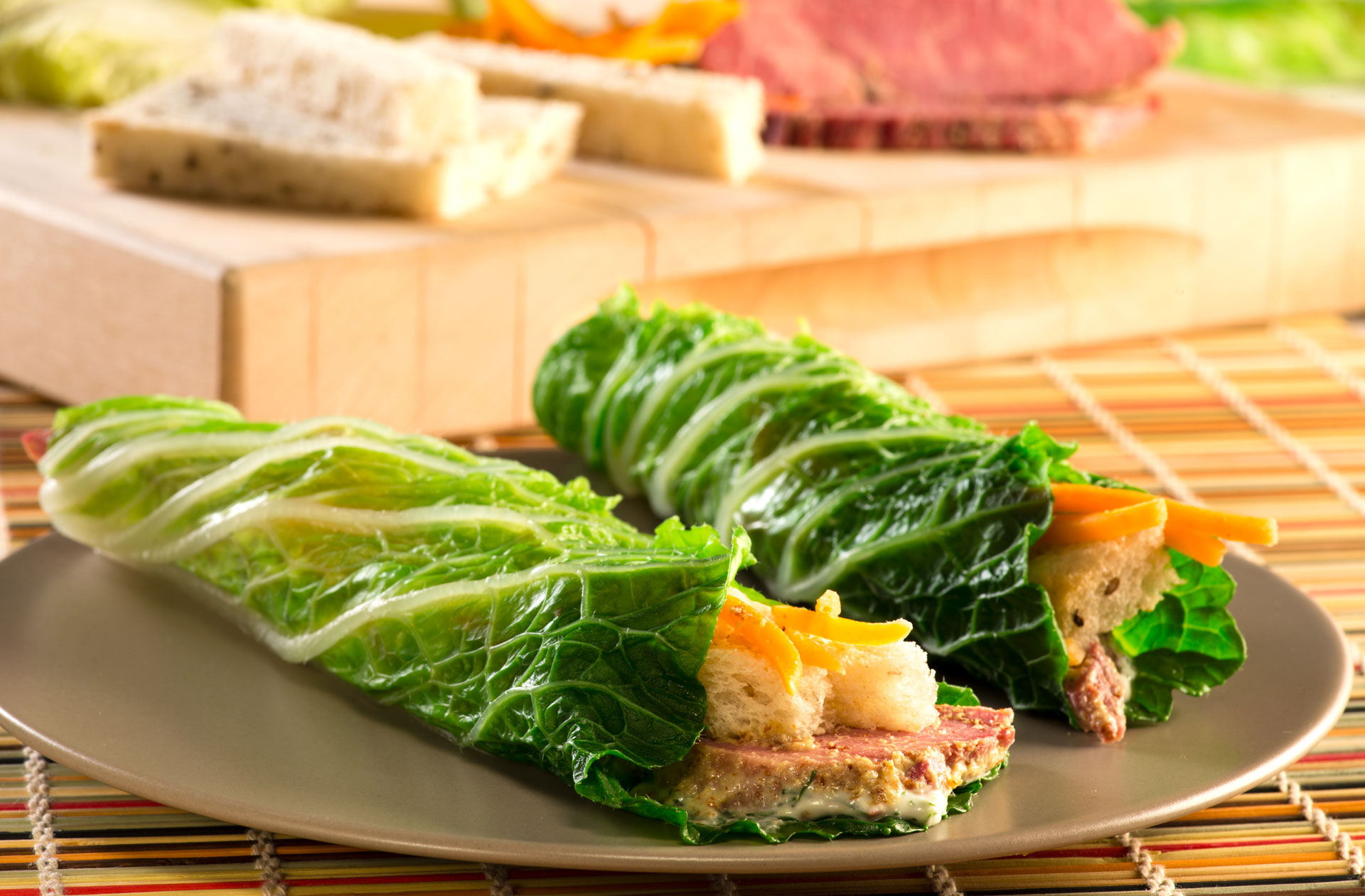 Inspired by the typically deep fried Irish egg roll, our Irish Spring Roll recipe features a cabbage wrap filled with a delicious corned beef mixture of fresh ingredients, making it a lighter alternative that still packs a flavorful punch.