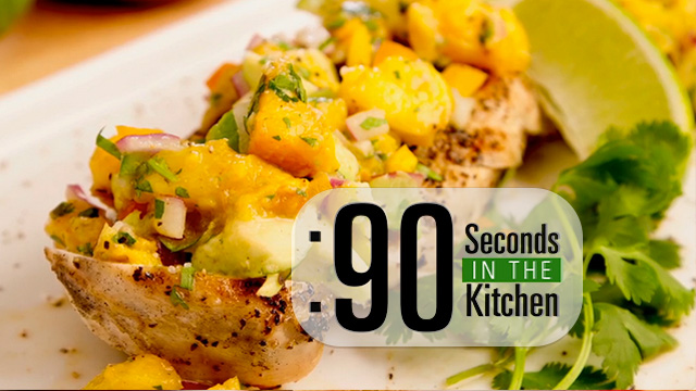 In the kitchens of The Food Channel, we like to get our fruits and veggies in this tasty fresh peach salsa. It's fresh, refreshing, and the perfect summertime topper for any protein.