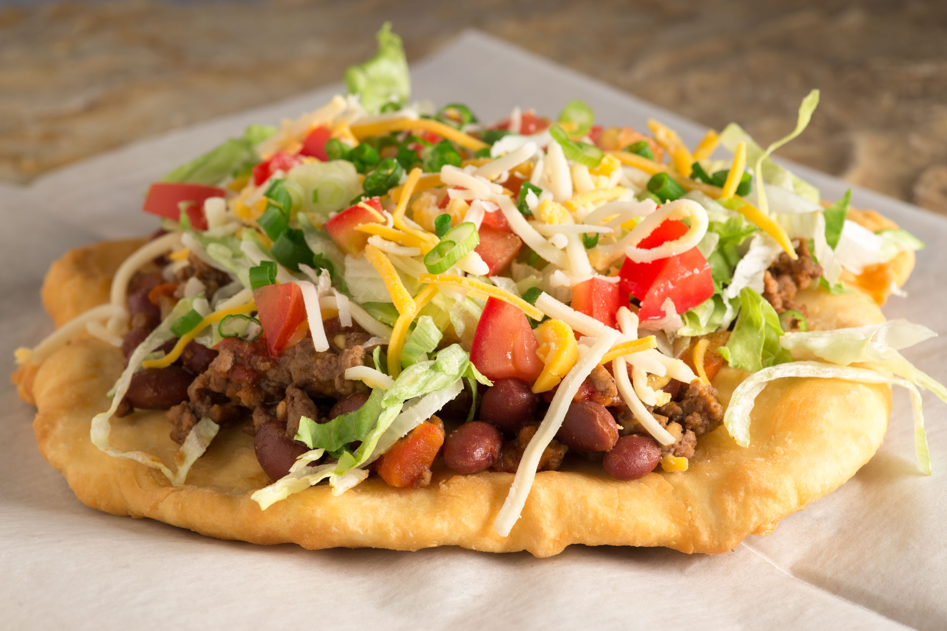 "A huge trend in food right now is what we call ""cultural diets,"" where we are returning to our roots for fresh, wholesome ingredients. This Navajo taco is a great example."