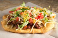 """A huge trend in food right now is what we call """"cultural diets,"""" where we are returning to our roots for fresh, wholesome ingredients. This Navajo taco is a great example."""