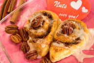 Imagine these showing up on your breakfast-in-bed tray on Valentine's Day, what could be better?