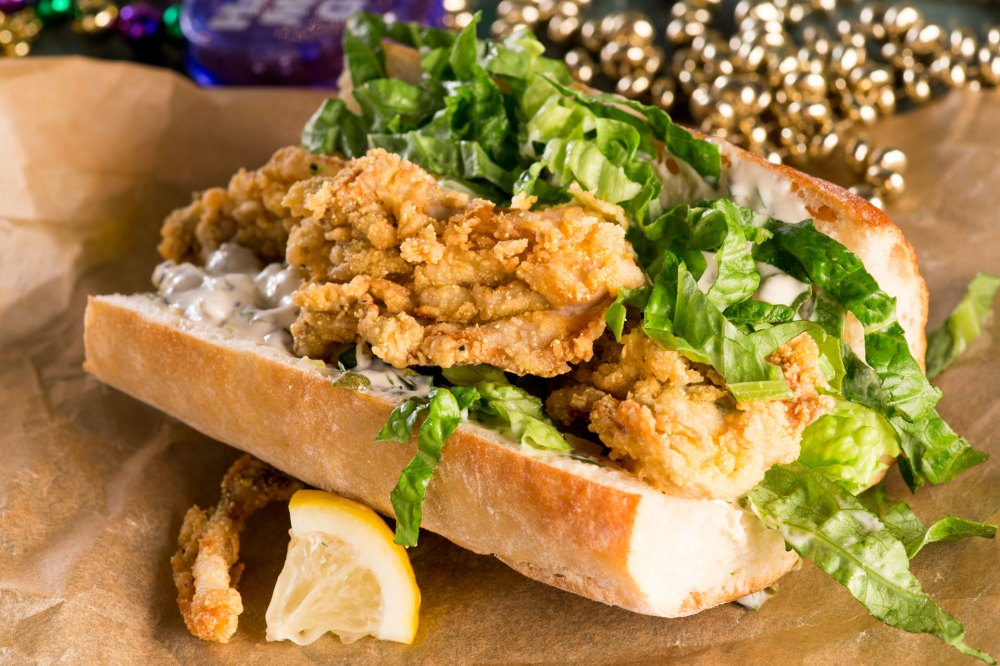 The ultimate po'boy! This indulgent sandwich features rich juicy oysters, deep fried golden and delicious, piled in soft warm French rolls with creamy Remoulade sauce.