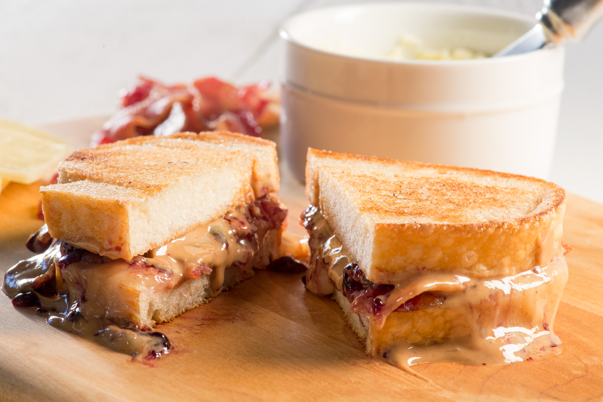 PB&J Grilled Cheese Sandwich with Bacon