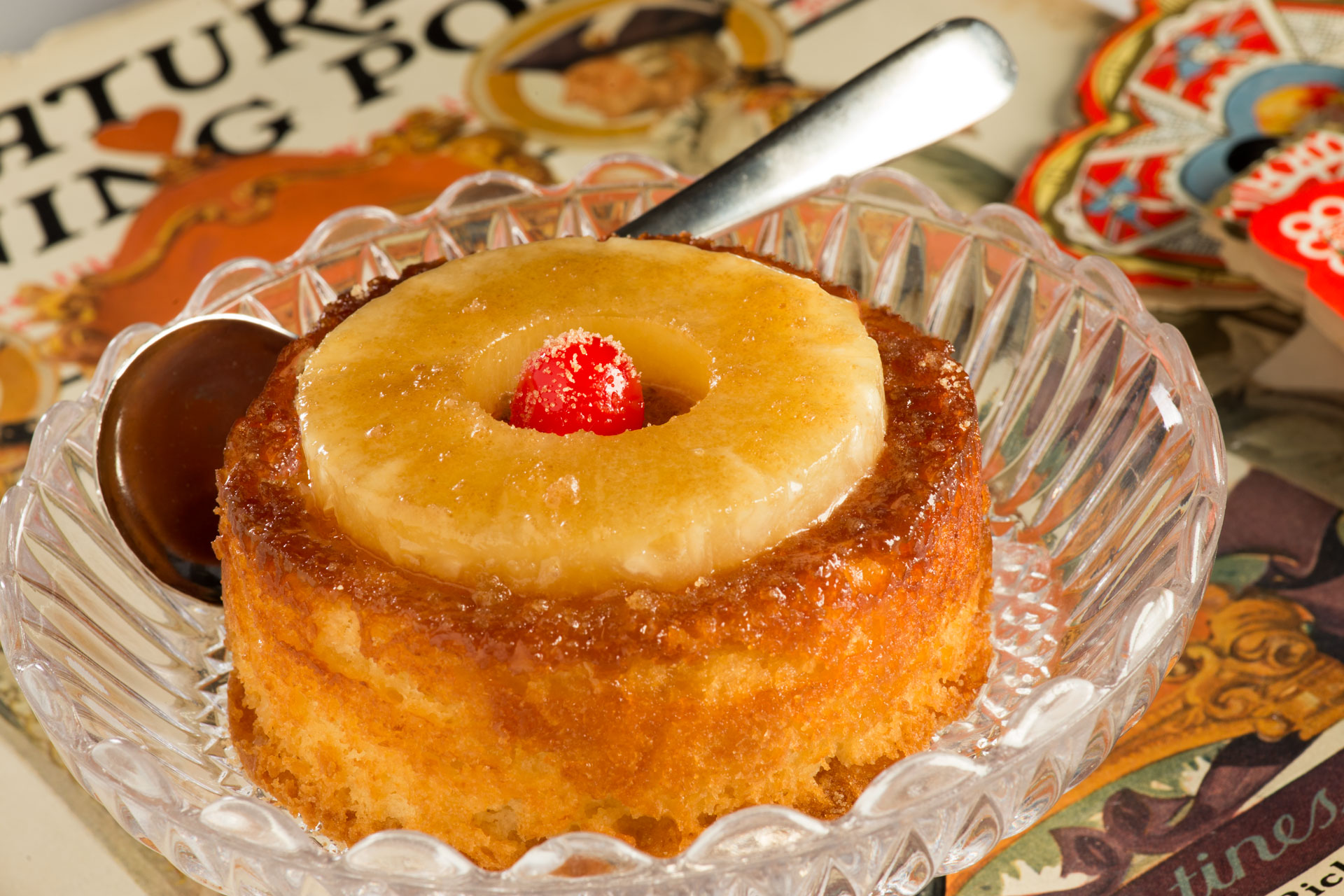 This Personal Pineapple Upside Down Cake is an updated look at a favorite dessert from the 1920s and is part of our Valentine's series of original recipes from the Food Channel.