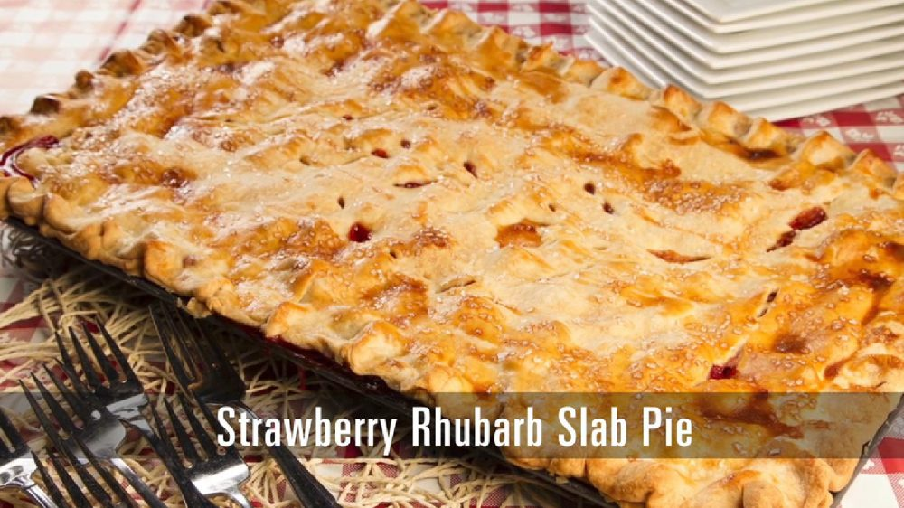 This pie isn't very different from a traditional strawberry rhubarb pie, but since we're using a baking sheet with raised edges, it's big enough to feed a huge crowd. Not to mention that this recipe uses fresh ingredients to create a perfect combination sweet and tart.