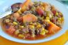 This hearty soup is chock full of ground sirloin, zesty diced tomatoes, green chilies and ripe sweet potatoes and corn, giving it that perfect Southwestern full flavor that will satisfy any cravings!