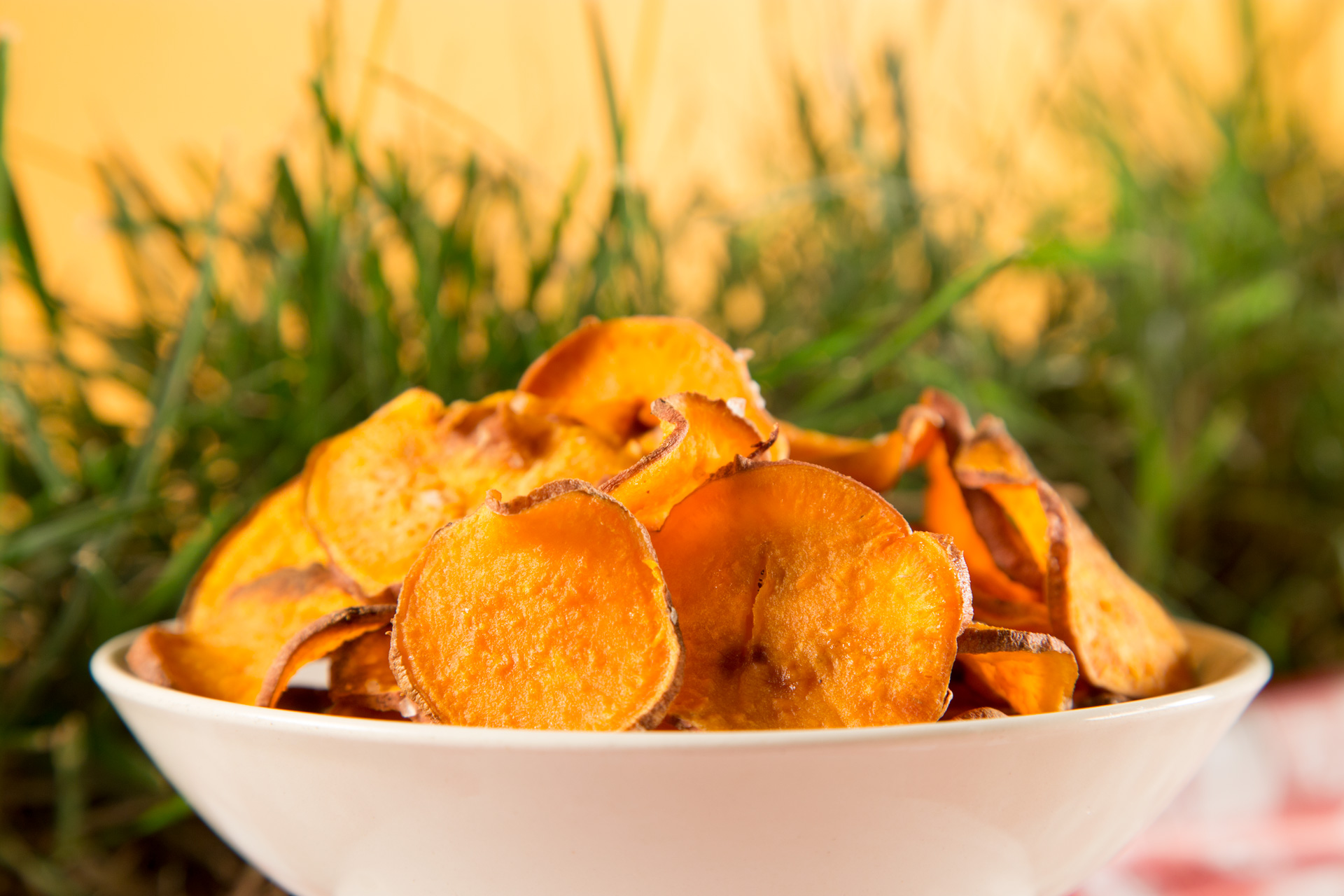 Baked Sweet Potato Chips//Photo by Lance Mellenbruch