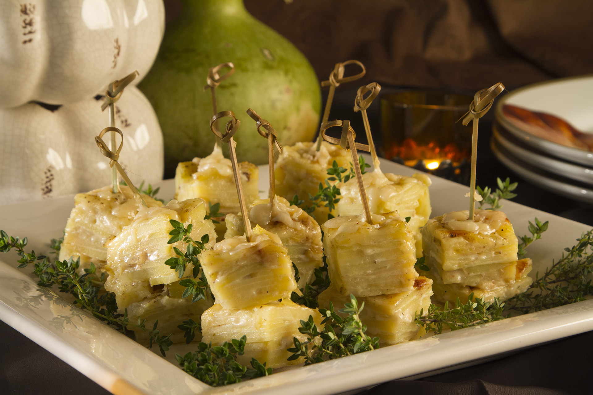 Yukon Gold Scalloped Potato Bites