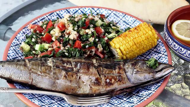 Grilling the mackerel on an outdoor grill brings out the smoky and rich flavor, and because mackerel is an oily fish you need little else than salt and lemon juice for seasoning!