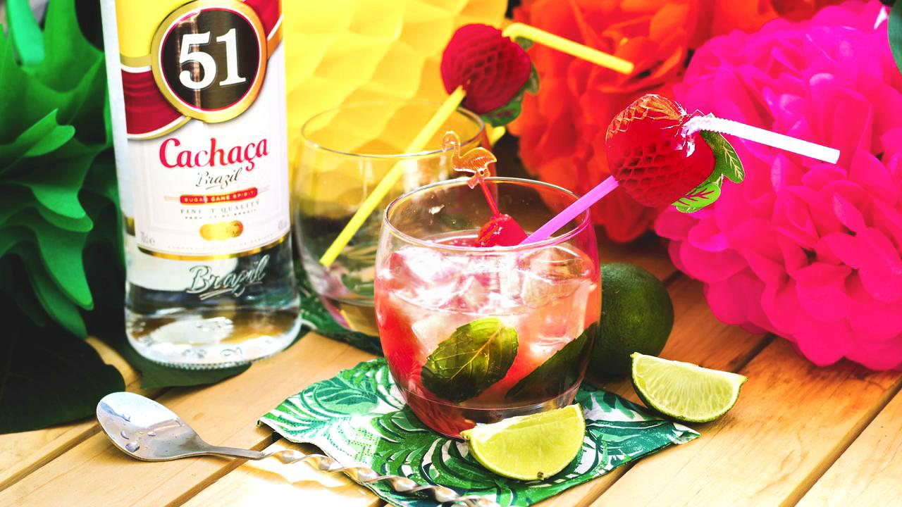 The caipirinha is made with a Cachaca rum that tastes more similar to tequila than traditional rum. With a strong flavor by itself, we added fresh watermelon, mint and lime juice to create these amazing Watermelon Caipirinha Cocktails that are perfect for your watch party!