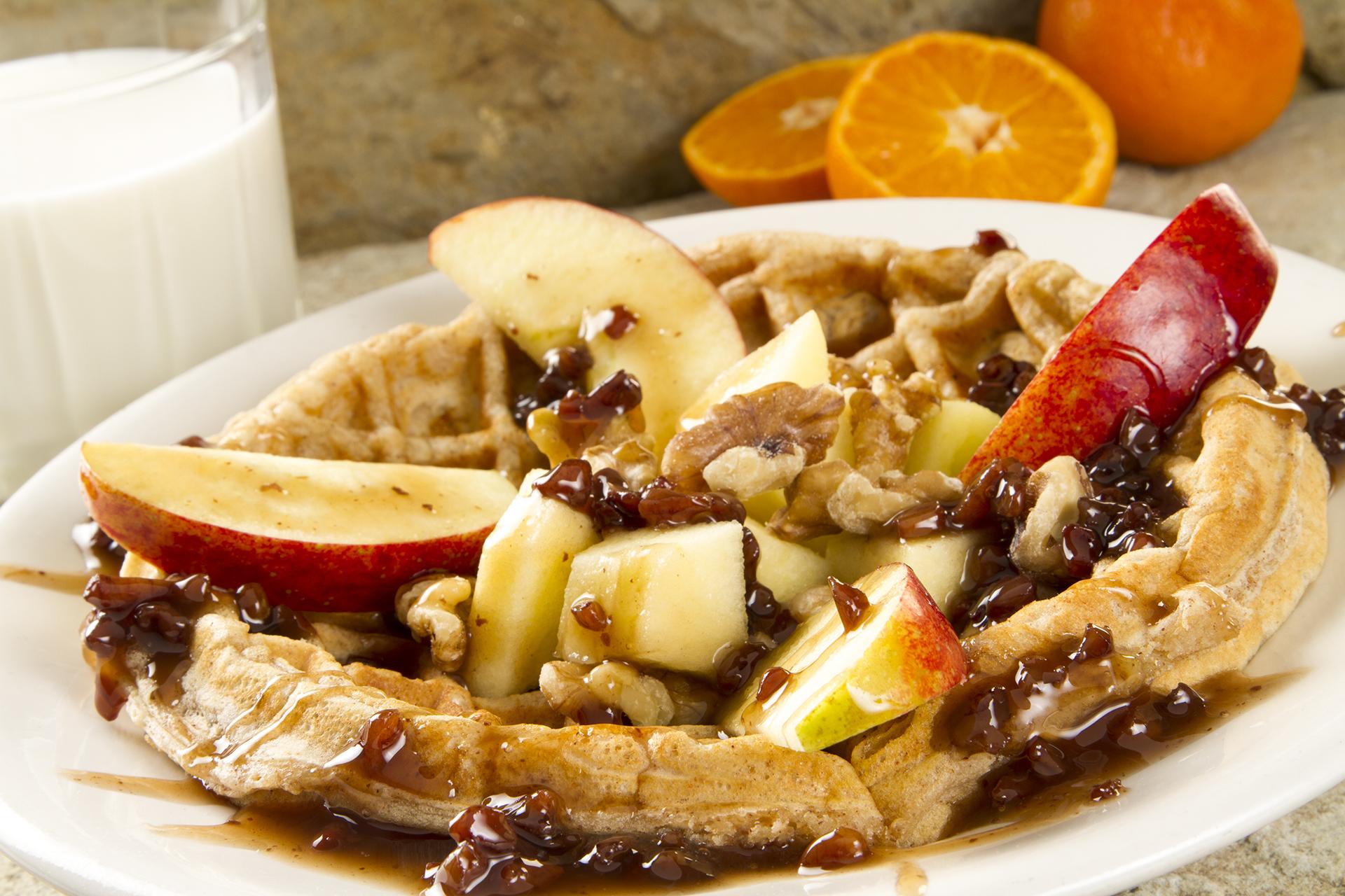 Apple and Oatmeal Waffle