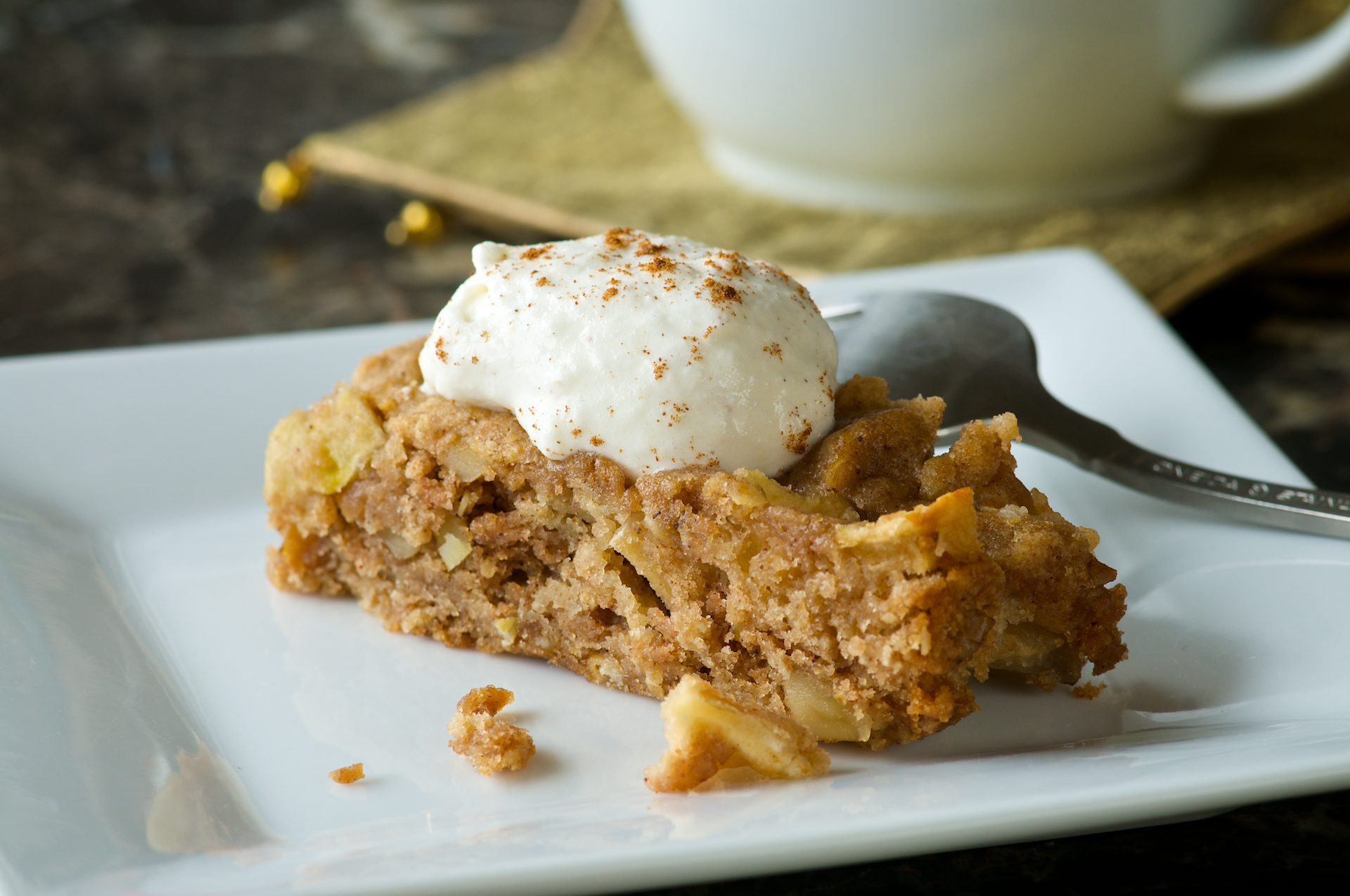 Take a break from the usual brownies and create a dessert that's full of good stuff, like apples and oatmeal. Why Try? First of all, it's sweet and yummy—consider the wholesome goodness of oatmeal and apples as a bonus!