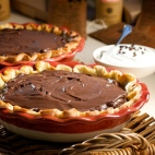 Silky smooth, rich and oh-so-chocolatey, this incredible pie is made with Askinosie Natural Cocoa Powder.