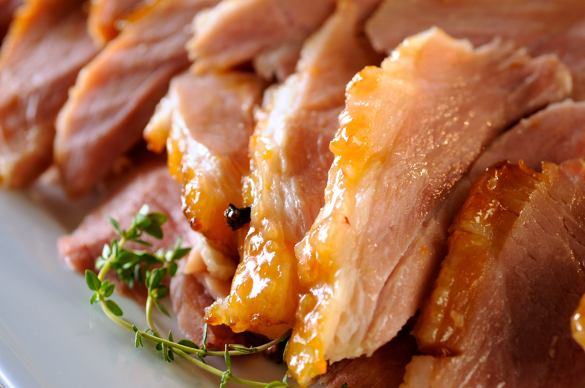 This caramelized brown sugar and apricot glazed ham is studded with whole cloves and will fill your kitchen with a wonderfully rich and spicy aroma.