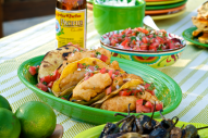 The fish taco craze has spread from Mexico to California, to the rest of the USA. It's a delightful dish to serve at your next gathering. This beer-battered version is always a huge hit!