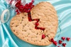 Broken Heart Cookie with Peanut Butter and Chocolate Chip