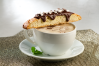 Chocolate Mint Dipped Biscotti and Minty Mocha Latte