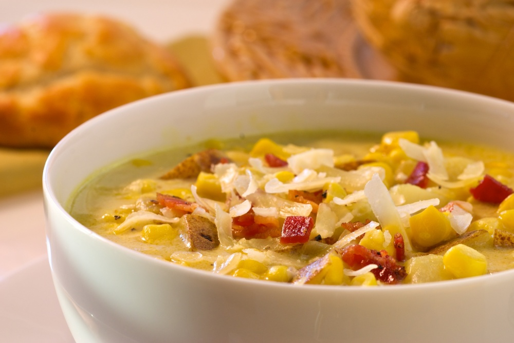 This comforting corn chowder recipe is prepared in one pot for quick and easy dinner time prep. Delicious served with a simple green salad and warm crusty rolls.