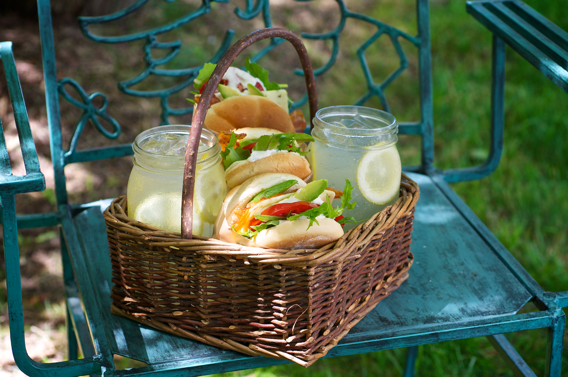 Farmers Market Avocado Ranch Club Sandwiches
