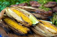 This is a great time to get fresh corn from the local farmers market. The smoky chipotle really enhances the hot-off-the-grill summer taste of sweet corn on the cob. Try it!