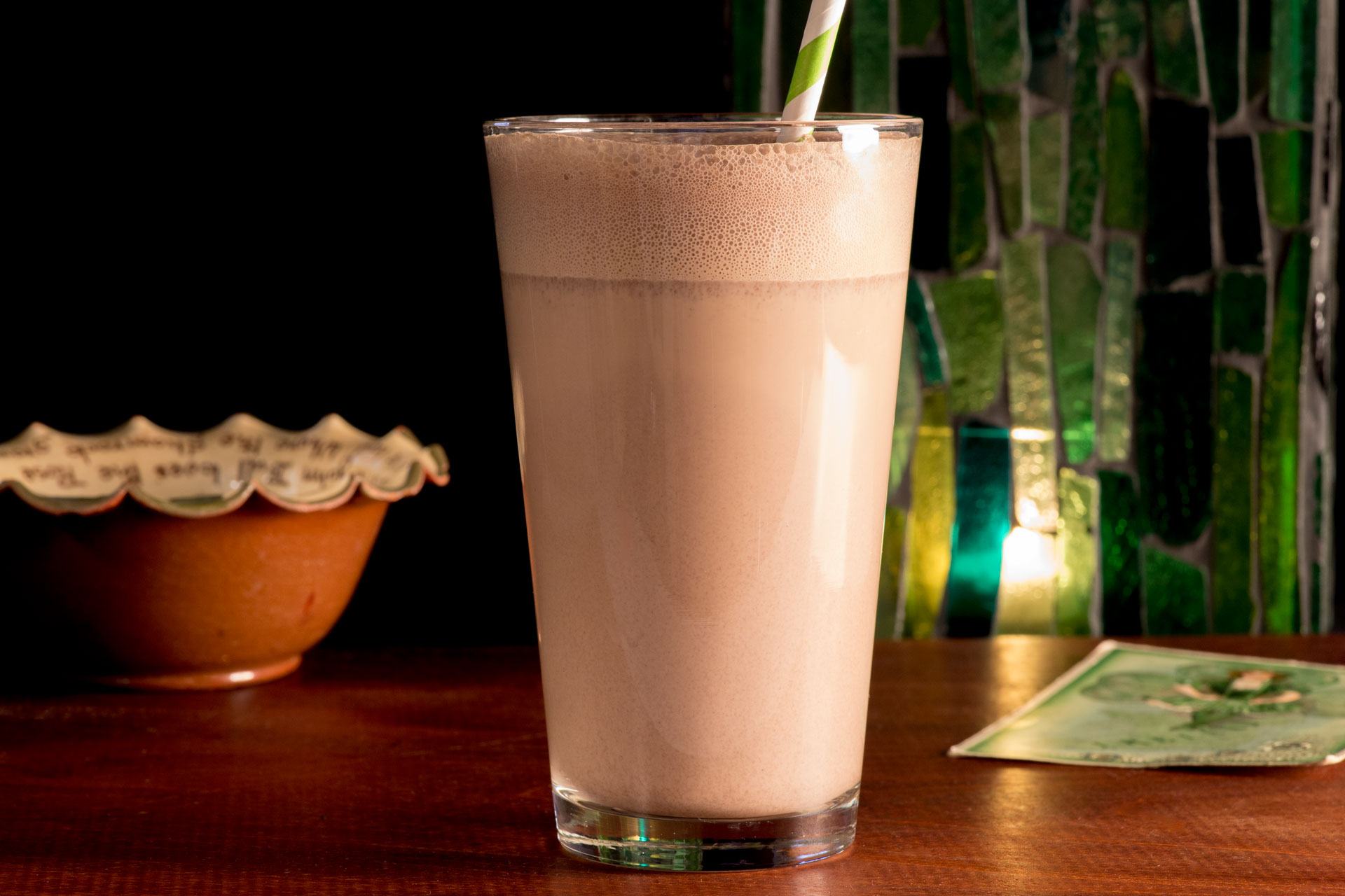 It's an Irish milkshake that will make you believe you have the best seat at the pub. All it takes is 4 ingredients for an indulgent dessert beverage.