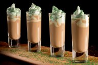 You may not make it to an actual Irish pub for St. Patrick's Day, but you can be there in spirit with these Irish Redeye Shots with a homemade mint whipping cream.